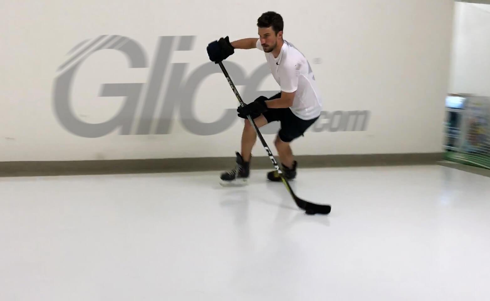 NHL All-Star & captain of Nashville Predators Roman Josi training on synthetic ice sheets