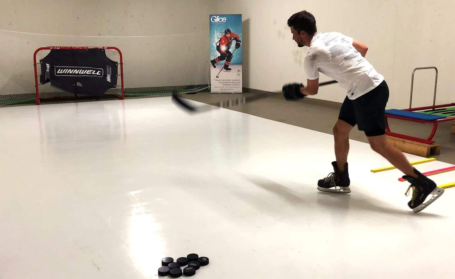 NHL-Star-Roman-Josi-practicing-on-synthetic-ice-pad