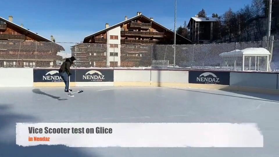 Nichts was nicht geht auf synthetischem Eis von Glice – Ice Scooter Test
