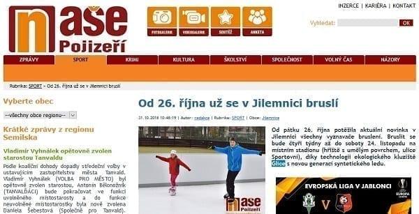 Od 26. října už se v Jilemnici bruslí na kluzišti Glice®