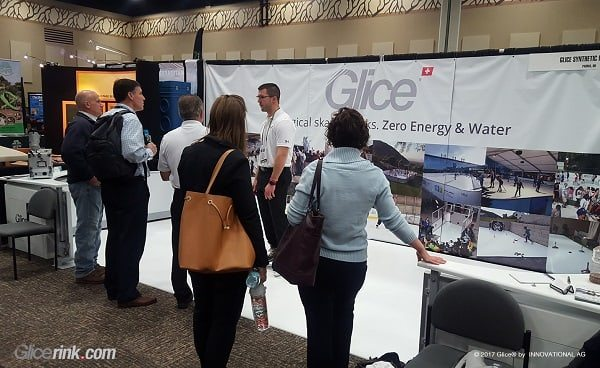 Glice® synthetic Ice Rink as an Eye Catcher and People Magnet at Recent Ohio Trade Show
