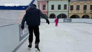 Pelhřimov bruslí opět na historickém náměstí na kluzišti Glice!