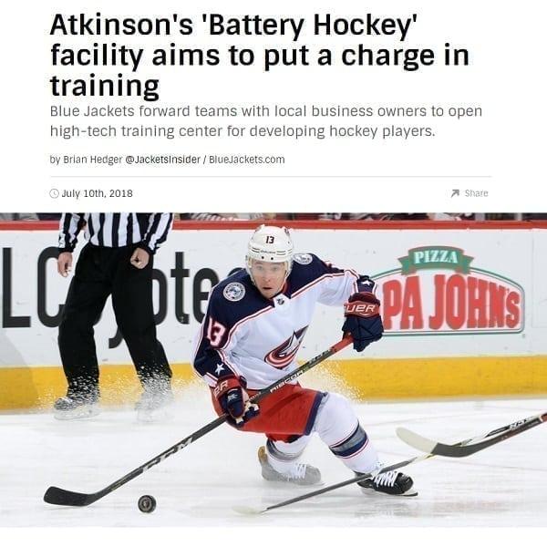 NHL.com berichtet über Trainingseinrichtung mit Glice® synthetischer Eisbahn in den USA