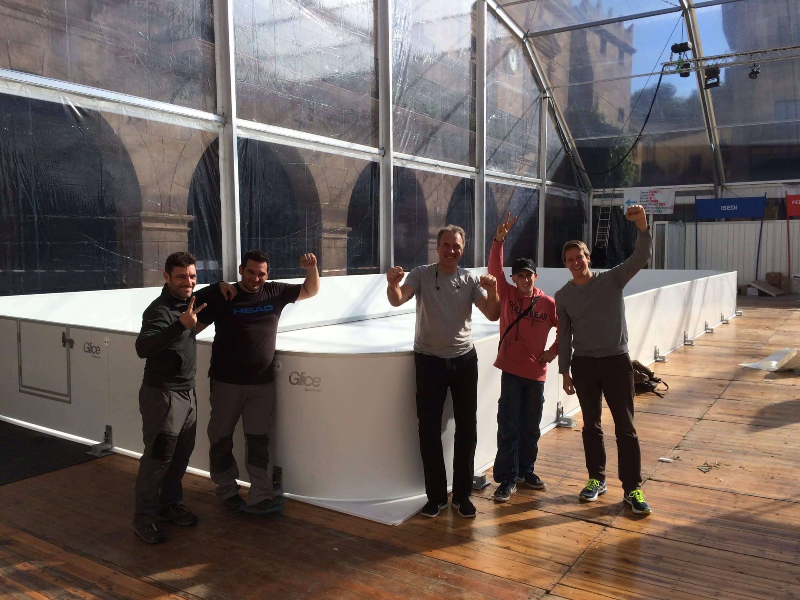 La patinoire synthétique de Glice® est utilisée à '' Let's Snow Festival '' en Barcelone