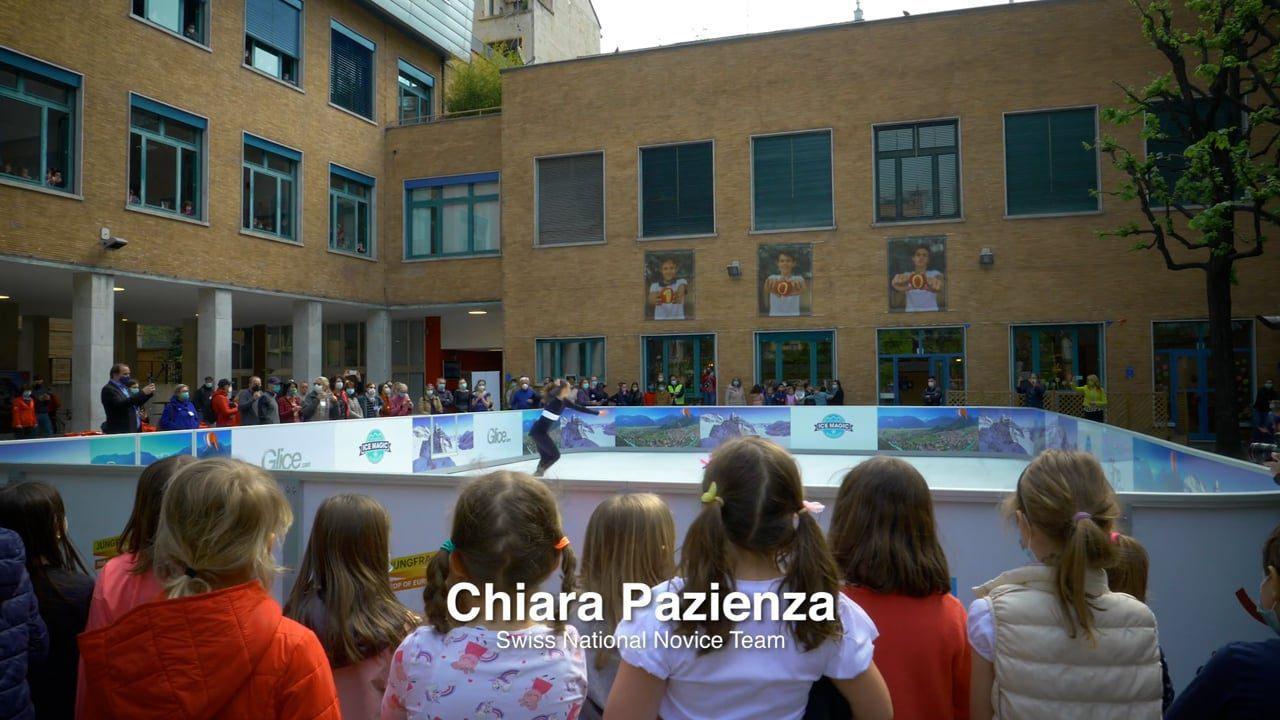 Plein feux sur la patinoire synthétique Glice à l'école suisse de Milan !