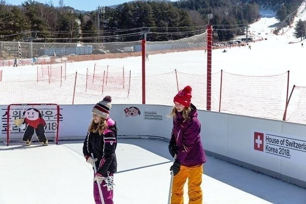 Proudly Present with a Glice® Synthetic Ice Rink at the Winter Olympics 2018