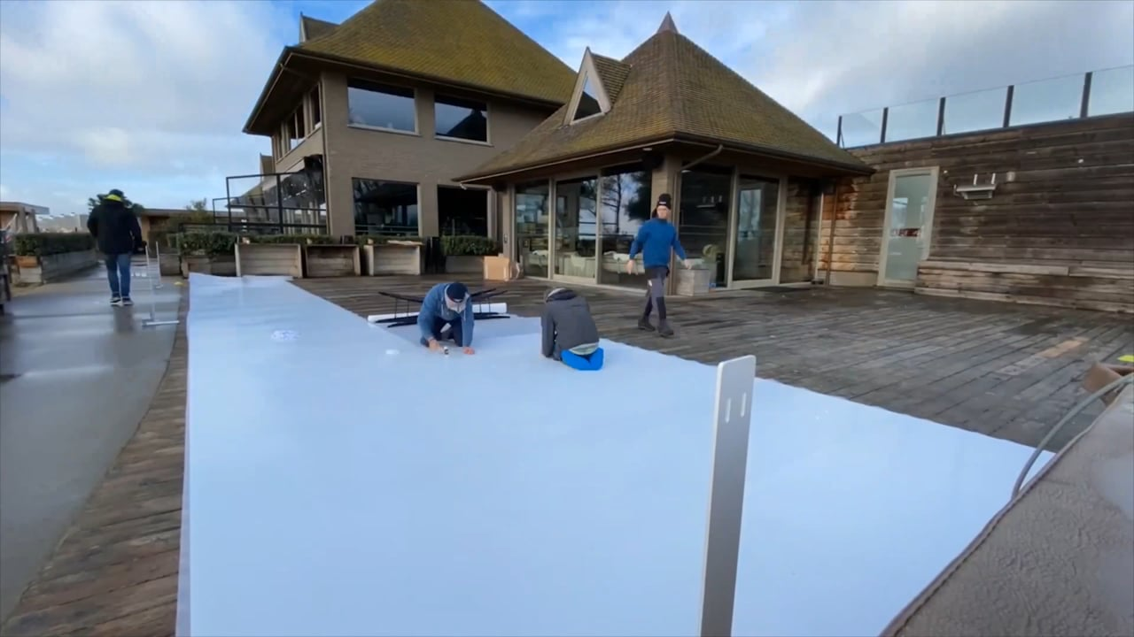 Quick and Simple: Glice Synthetic Ice Rink Installation Time-Lapse