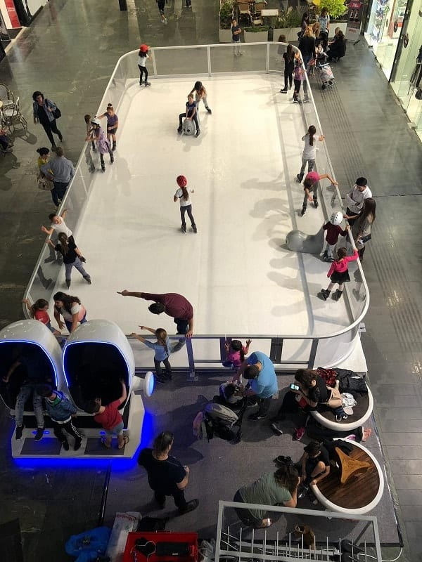 Skate Fun at a Glice® Synthetic Ice Rink in Israeli Mall