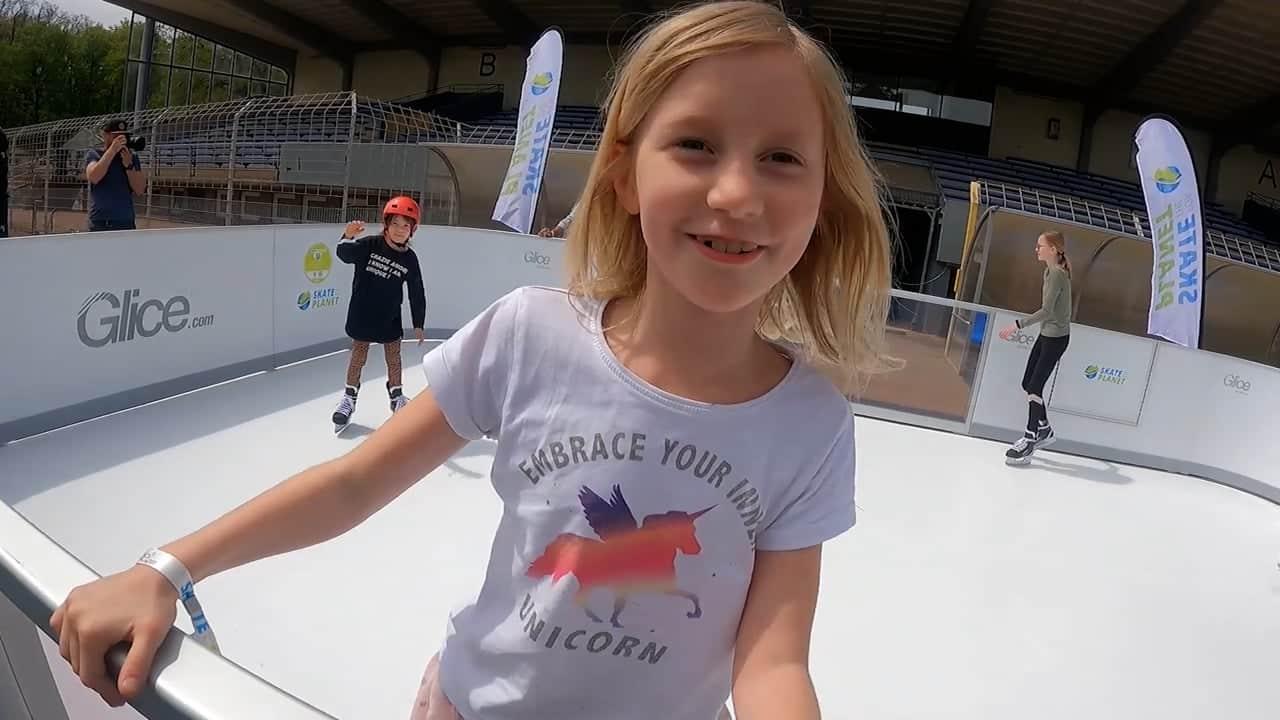 Skate for the Planet met Glice kunststof ijs!