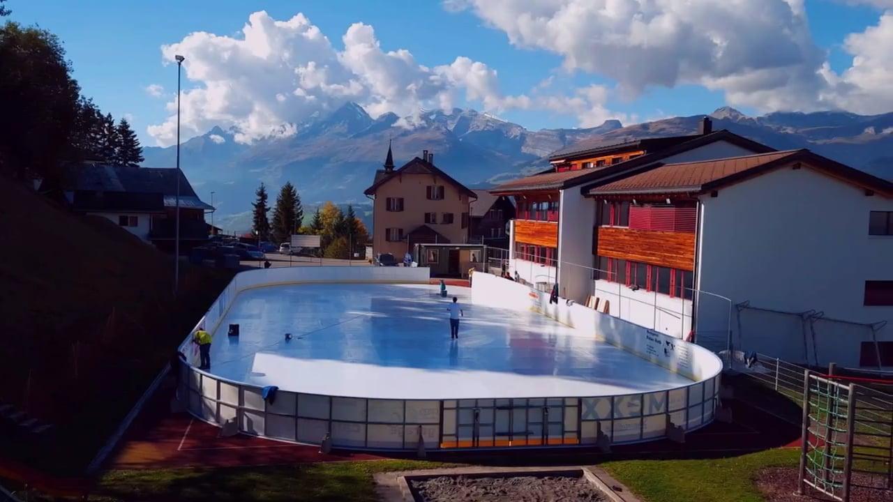 Skigebiet ersetzt herkömmliche Eisbahn mit Glice® synthetische Eisbahn!