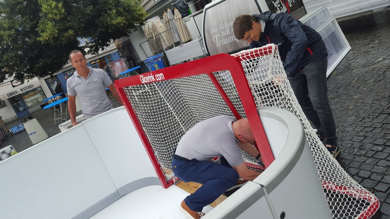 Glice® synthetic ice Slapshot Station at the 2016 Zürich Festival