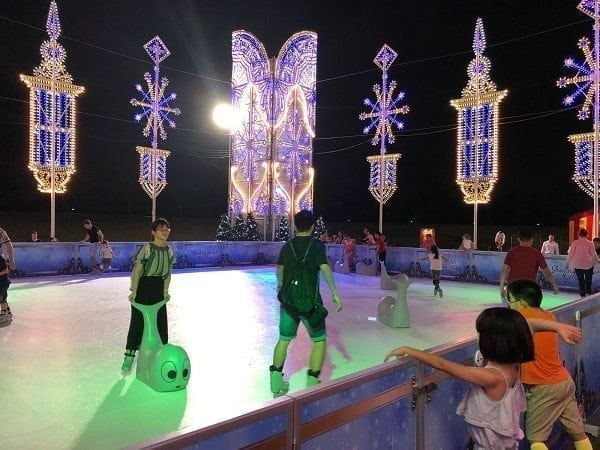Slide by the new Glice® Synthetic Ice Rink at Singapore's Gardens by the Bay!