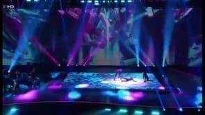 Starauftritt einer Glice® synthetischen Eisbahn vor Millionenpublikum bei Helene Fischer Show