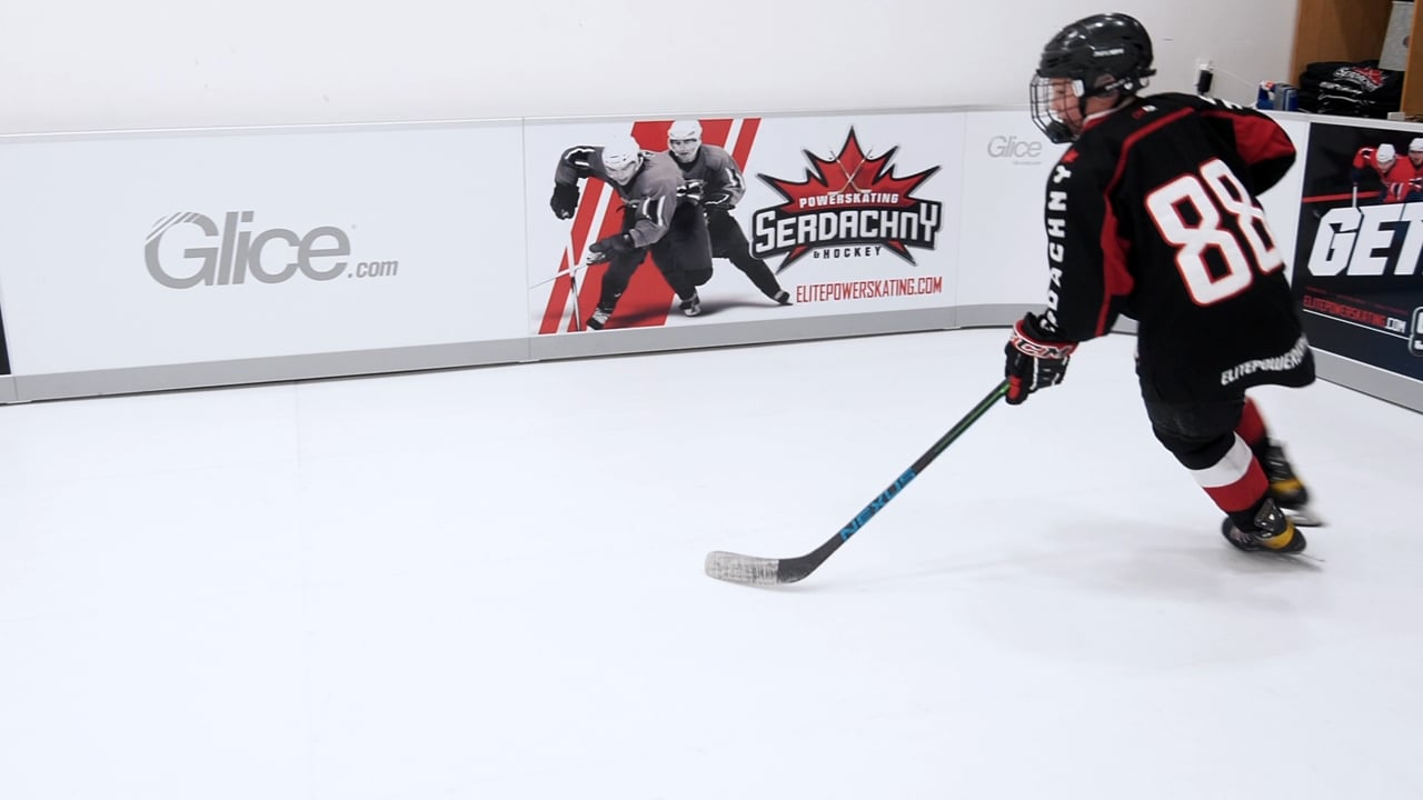 Steve Serdachny: Skating, Lateral Crossovers – Powered by Glice Synthetic Ice