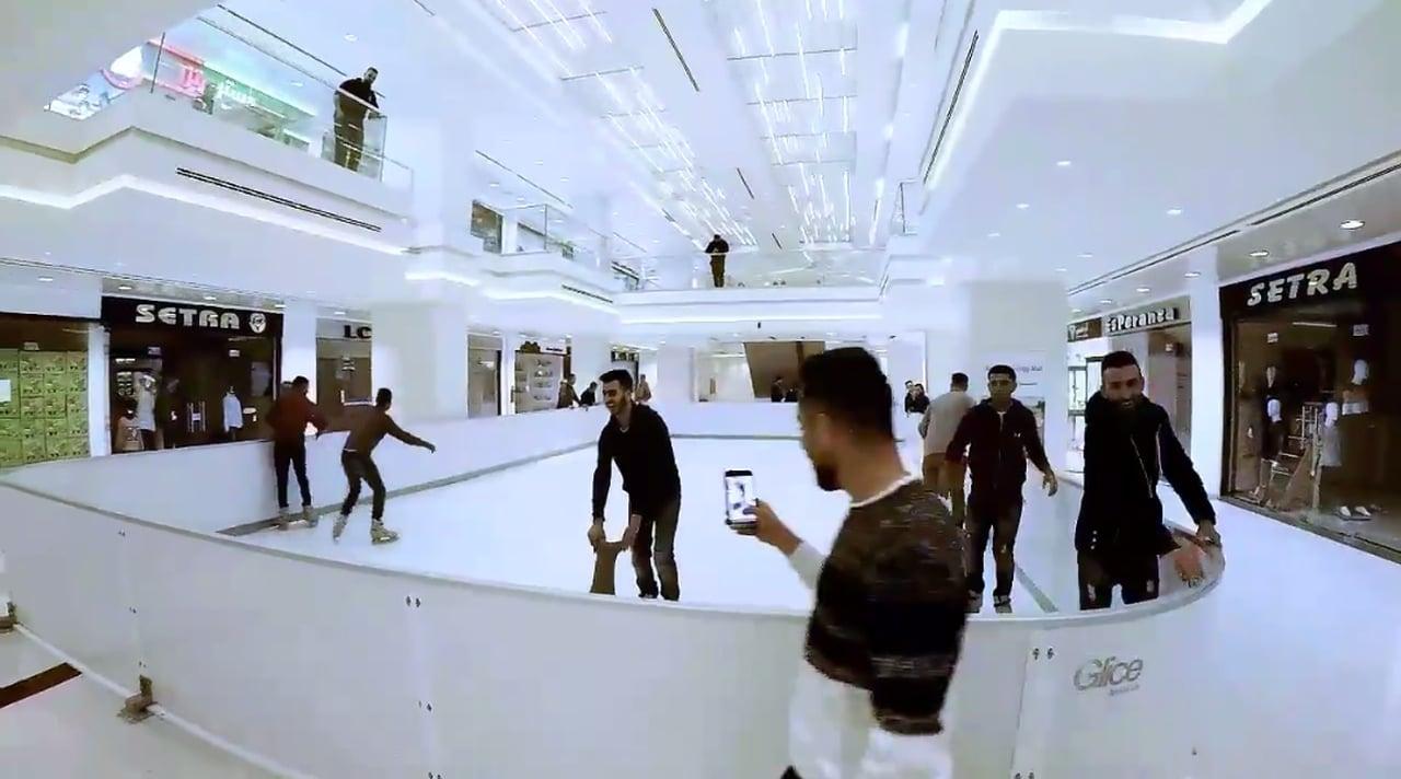 Avviata con Successo una Pista in Ghiaccio Sintetico Glice® al Birzeit Mall in Palestina