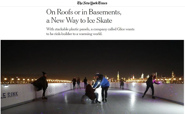 New York Times Publishes Article about Glice Synthetic Ice
