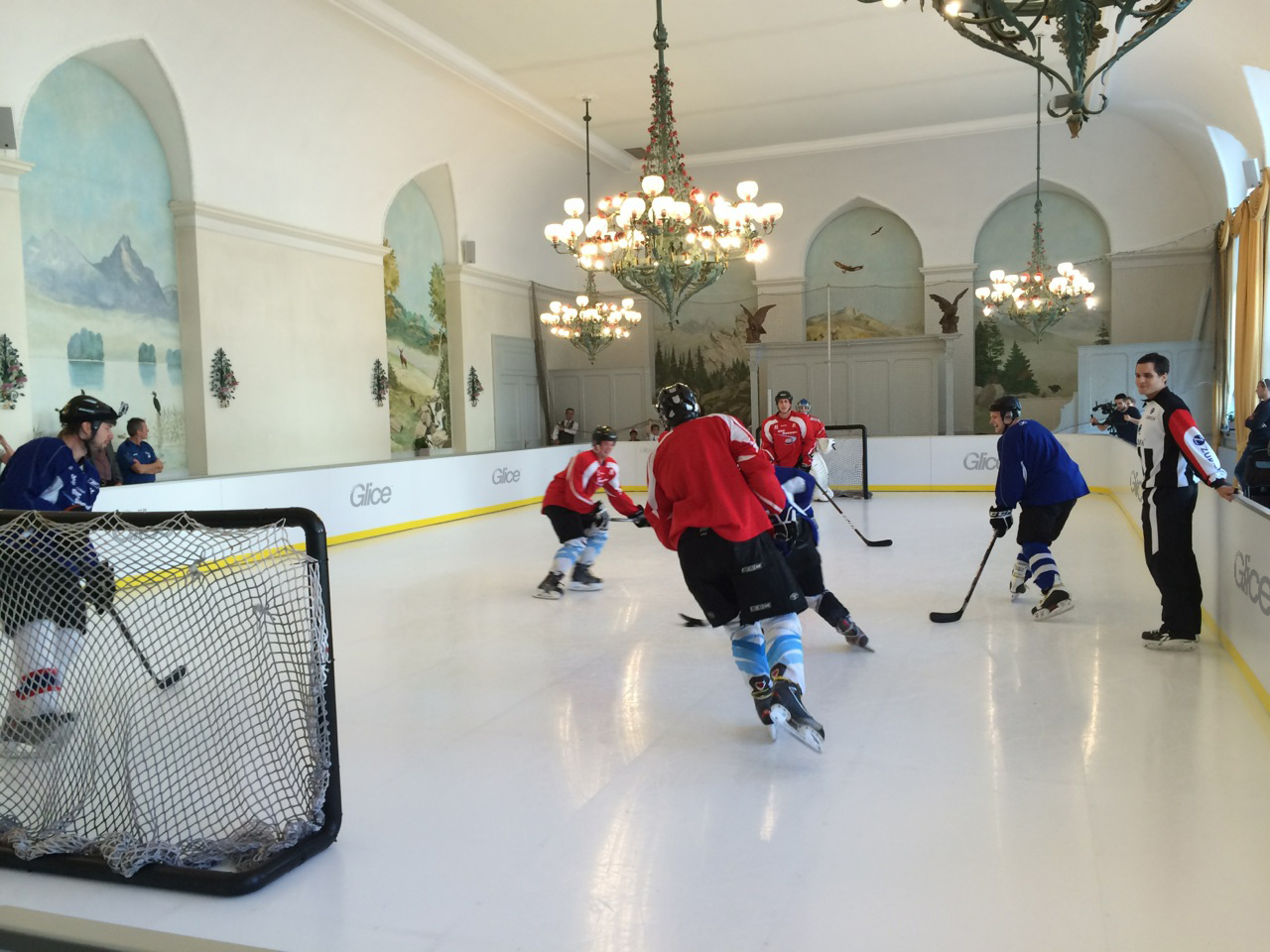 Synthetic Ice Rink Hockey