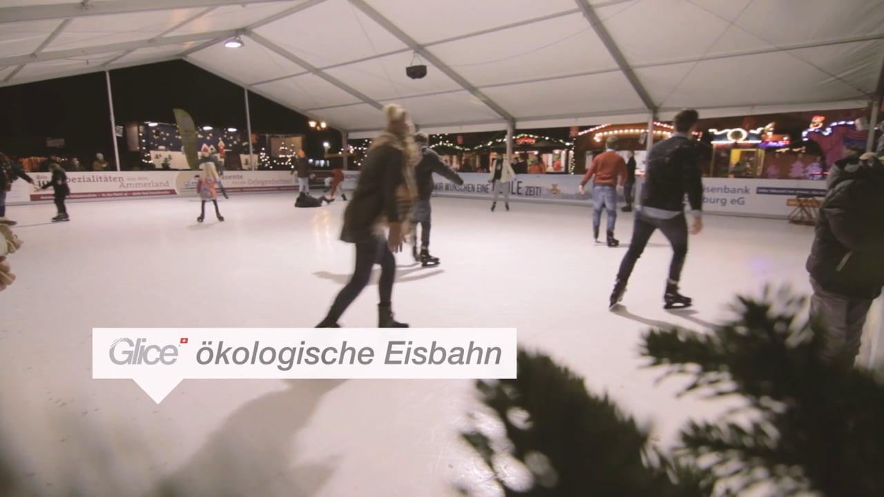 Glice® Kunststoff Eisfläche Am Deutschen Weihnachtsmarkt