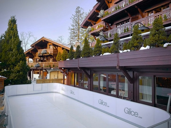 Synthetic Ice by Glice at the Four Seasons in Megève, France