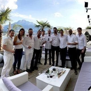 The team of Glice synthetic ice rinks in Switzerland