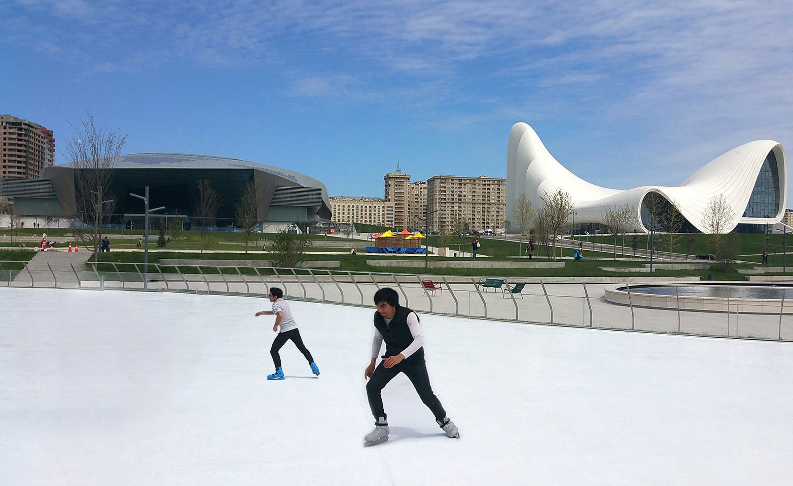 The world's largest synthetic ice rink in Azerbaijan