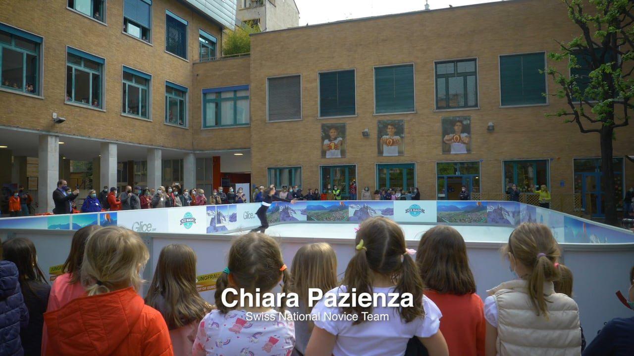 Todas as atenções voltadas para a Pista de Gelo Sintético Glice na Escola Suíça em Milão