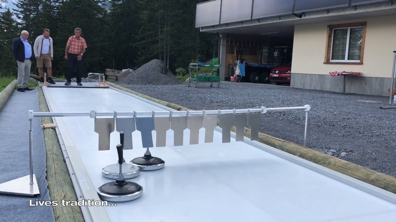 Tradition Meets Innovation: Glice® Synthetic Eisstock Curling Track at Bischofalp in Switzerland
