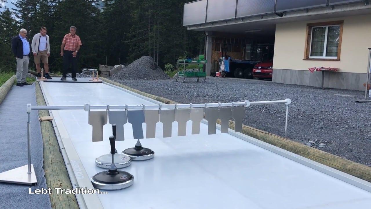 Tradition trifft Innovation: Glice® synthetische Eisstockbahn am schweizer Bischofalp Berghotel