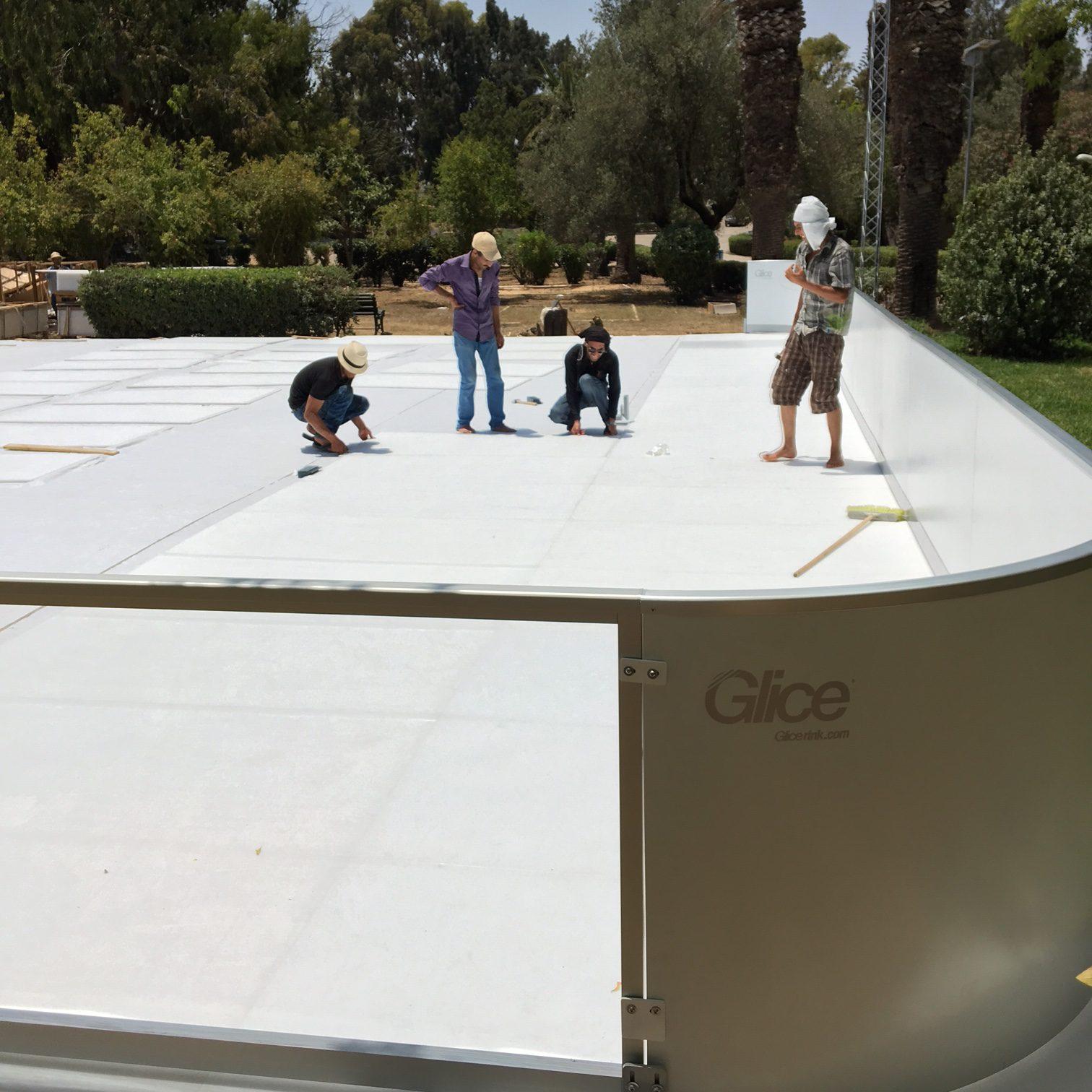 Glice® synthetische Eisbahn in Tunesien!