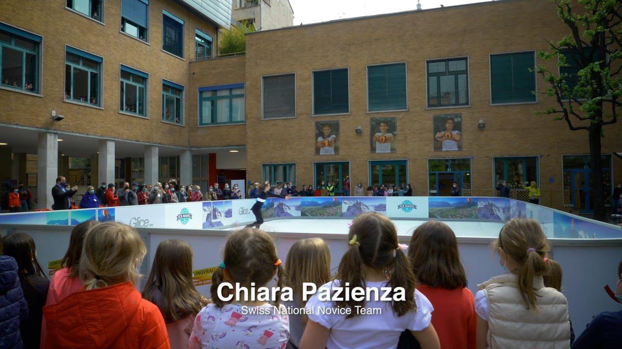 Tutti gli occhi putati sulla Pista di Ghiaccio Sintetico Glice alla Scuola Svizzera di Milano
