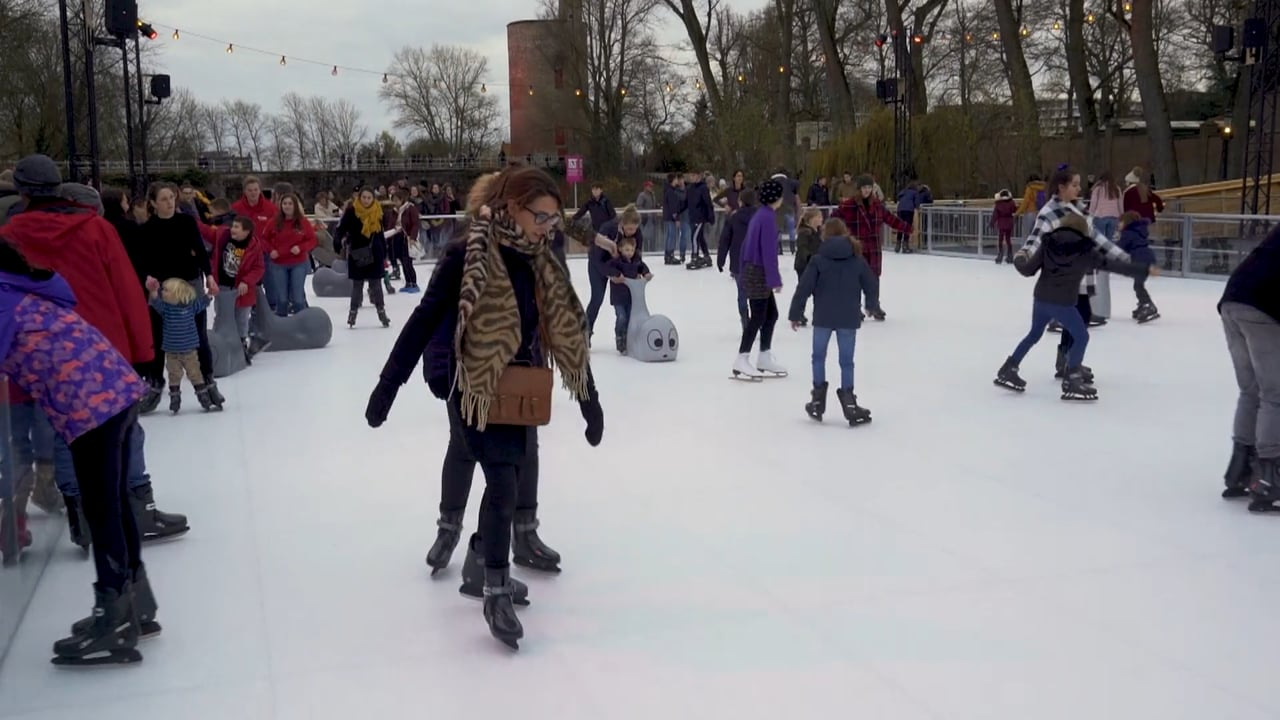 Unique Synthetic Ice Rink in the Historic Centre of Bruges