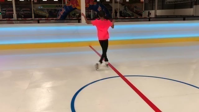 Up-and-Coming Australian Skater Victoria Alcantara Tests the Glide Effect of a Glice® Synthetic Ice Rink