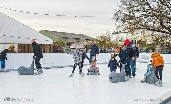 Seize the Saison with a Glice® Rental Synthetic Ice Rink at Your Venue