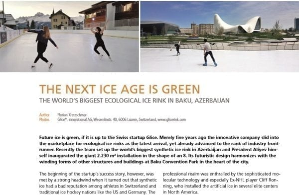 International Association for Sports and Leisure Facilities (IAKS) reports on World's Biggest Synthetic Ice Rink by Glice®