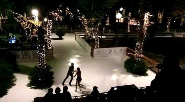 Wunderschöne Glice® Kunsteisbahn im lieblichen Cortona in der Toskana