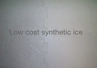 low cost synthetic ice rink