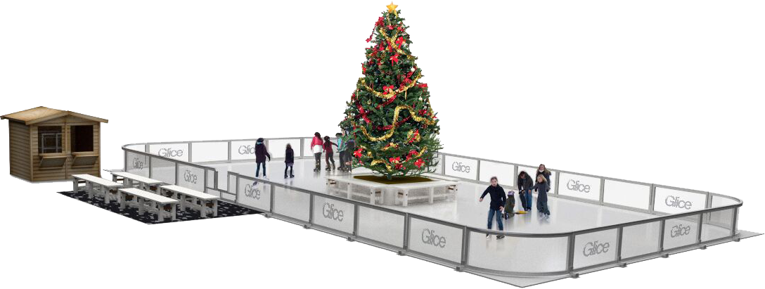Christmas Ice Skating Rink Decoration.Synthetic Ice Christmas Rink Glicerink