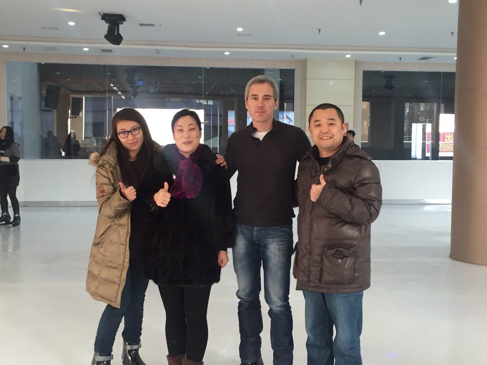 Einweihung einer Glice® synthetischen Eisfläche in Shanxi China