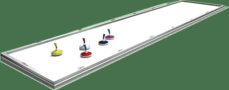 Synthetische Eisstockbahnen