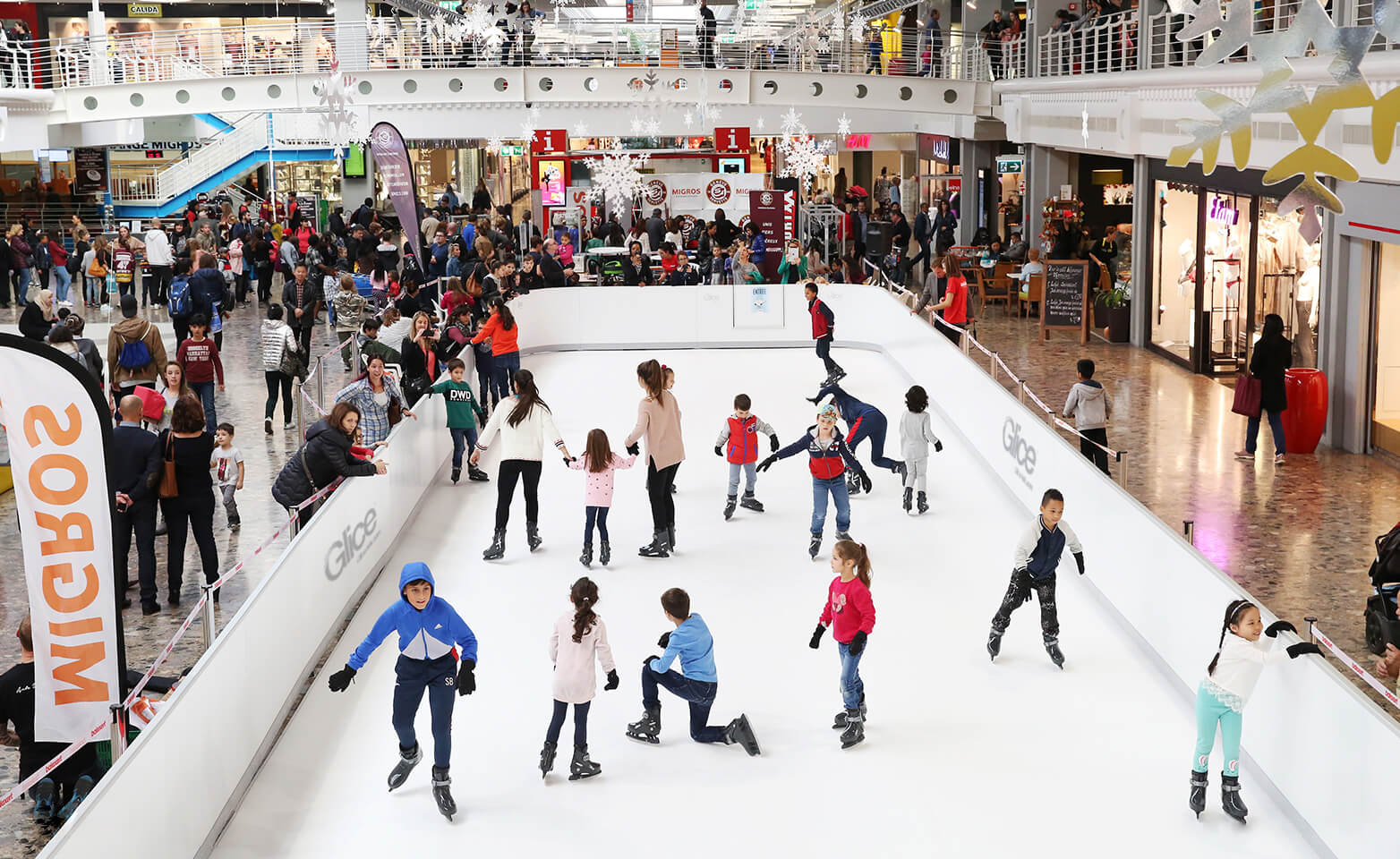 Leisure synthetic ice rink at prestigious German Grand Hotel Heiligendamm