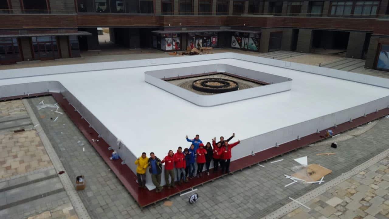 Enorme pista in ghiaccio sintetico Glice® montata al Genting Grand resort, in Cina!