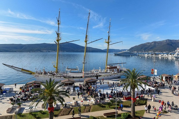 Glice Synthetic Ice Rink amid Stunning Scenery in Tivat, Montenegro