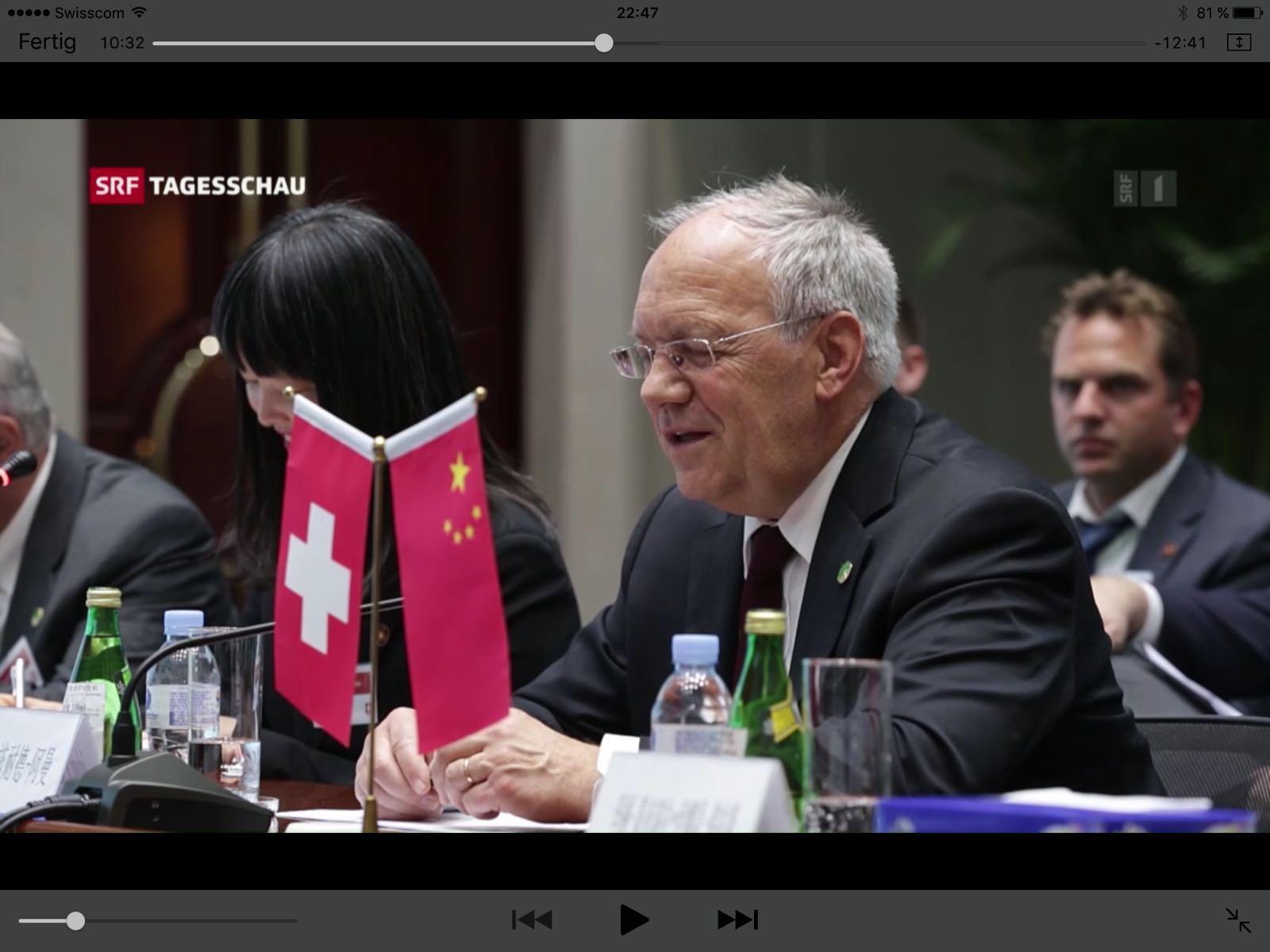 El cofundador de Glice® Viktor Meier formando parte de la visita de estado Suizo – China.